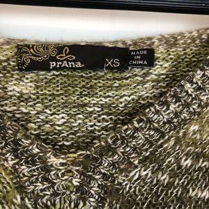 Prana Tops - prAna Green Ombre Knit V-Neck Hoodie